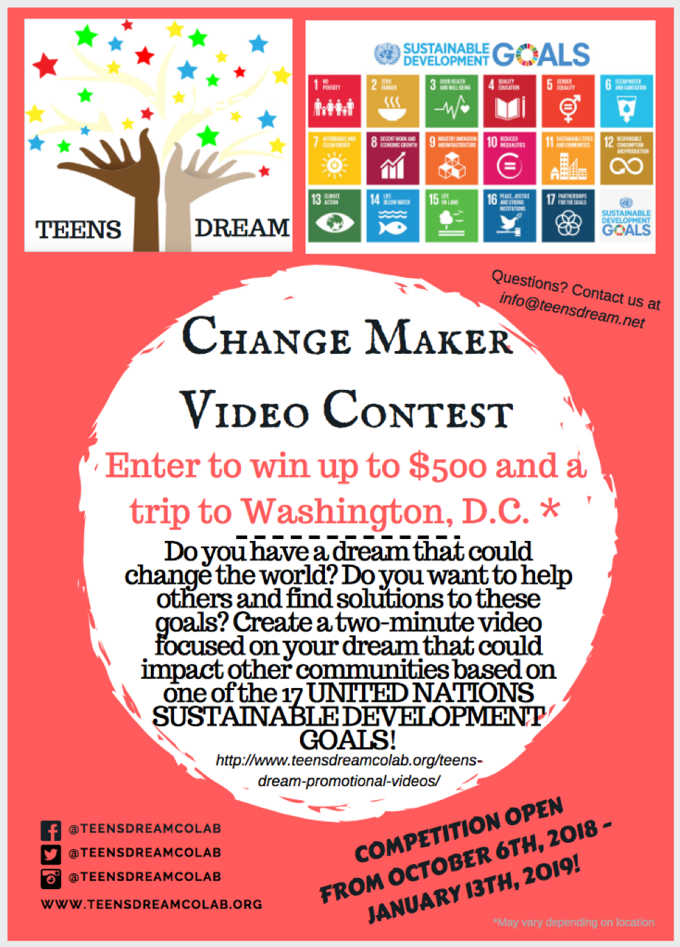 Change Maker Video Contest Flyer